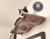 Large Wavy Cat Perch / Shelf  5 Piece Package