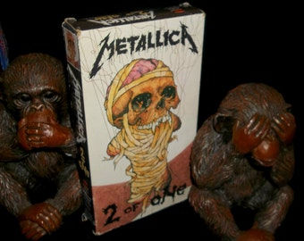 METALLICA Vintage VHS 1989 2 of One Pushead Art Rare Video Single With Alternate versions of the song One