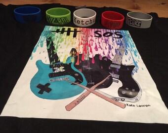 COMPLETE BUNDLE (Ketchup bracelet, Dont Stop bracelets, instrument shirt)