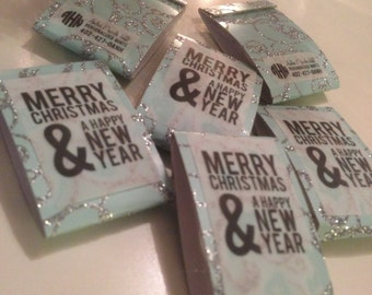 Merry Christmas & A Happy New Year - Set of 50 mints - Wintergreen ...