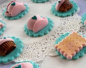 Tea time cupcake toppers