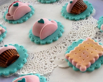 High Tea cupcake toppers