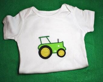 Custom Embroidered Tractor Bodysuit