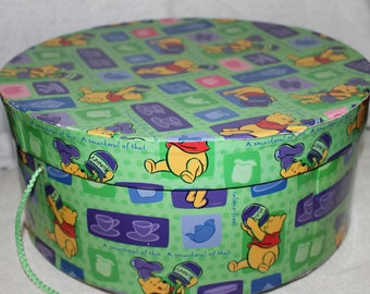 Winnie the Pooh Hat Box 5.5 Inches Tall, Toys, Storage, Decoration, Kids Room, Collectible, Home Storage, Hat Storage, Disney Inc. Very Nice