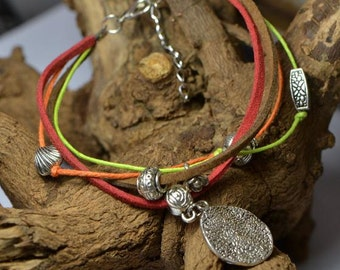 Colorful leather anklet,bracelet,vintage,bangle,personalized,wholesale(JL03)