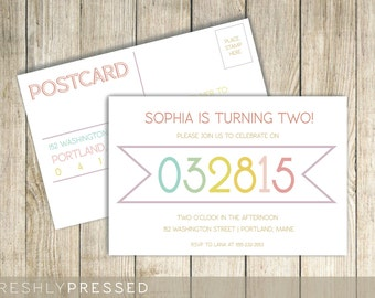 Custom Birthday Party Invitation Postcard