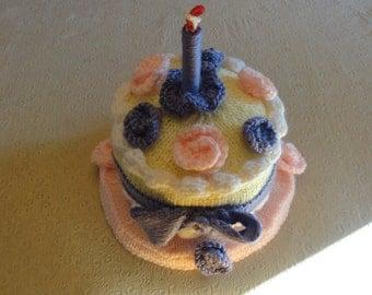 Knitted Birthday Cake