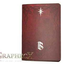 Fan-made Bilbo's book inspired personalized journal notebook