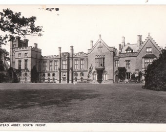 1953 ca. RPPC Showing Newstead Abby,  South Front, Nottinghamshire, England - Real Picture Postcard