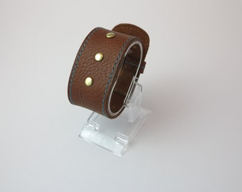 3 Stud Leather Wrist Cuff/Gifts for him/Gifts for her