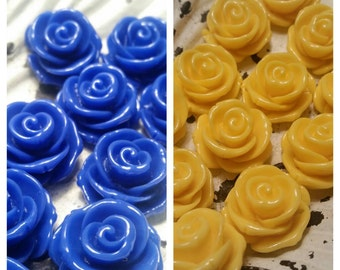 23mm Drilled Resin Rose Beads