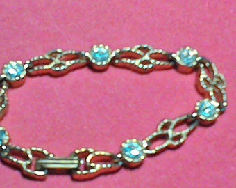 Princess House [retired] crystal link bracelet