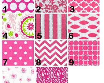 Candy Pink Window Valances-Window Treatments-You Choose Your Size and Pattern