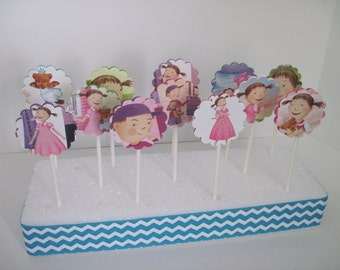 PINKALICIOUS - Cupcake Toppers - Set of 12