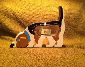 Creative Handmade Wooden Banks- Dog