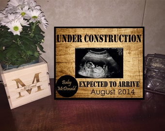 Under Construction Frame/ Baby Announcement Frame