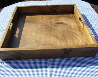 Ottoman Tray Large Tray Handmade Wooden Tray Re Claimed Wood Tray Rustic Tray Eco Friendly Home Decor Custom Sizes Stained Waxed