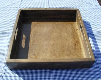 Ottoman Tray Wooden Tray Handmade Eco Friendly Tray Re Claimed Wood Tray Rustic Tray Breakfast Tray Lap Tray Country Style Home Decor