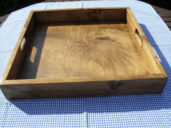 Ottoman Tray Large Tray Handmade Wooden Tray Re Claimed Wood