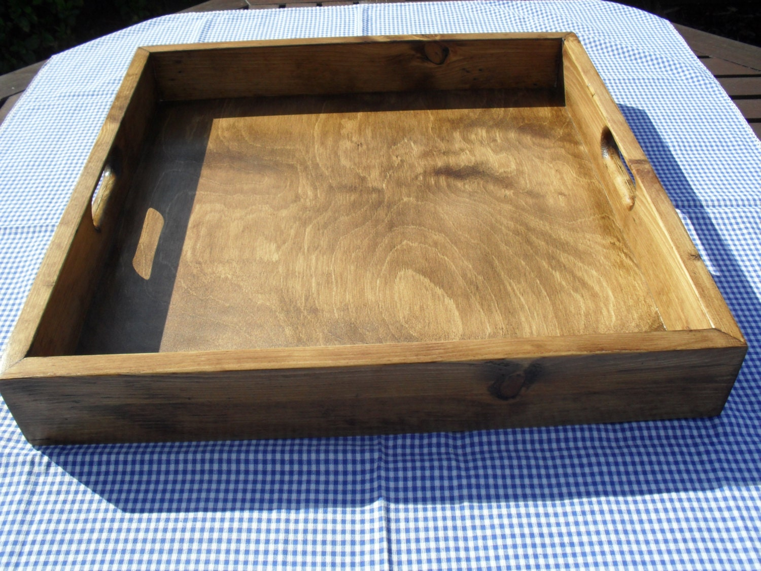 Ottoman tray large handmade wooden re claimed wood