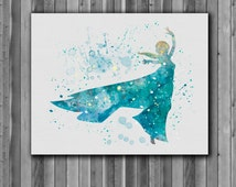 Princess Elsa DISNEY, Frozen- Art Print, instant download, Watercolor Print, poster