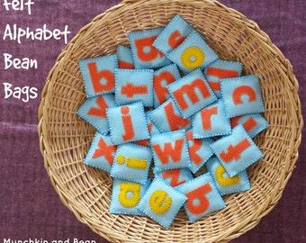 Lowercase Alphabet Felt Bean Bags