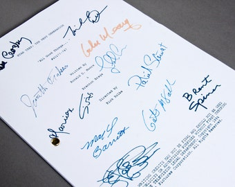Star Trek Next Generation TV Script with Signatures/Autographs Reprint