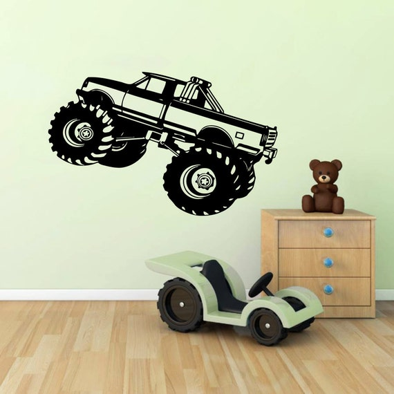 Monster truck wall decal vinyl sticker decals by for Cars wall mural sticker