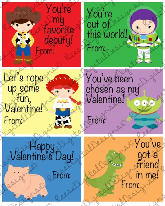 Valentine S Day Toy Prizes : Printable valentine s day cards toy story kids classroom