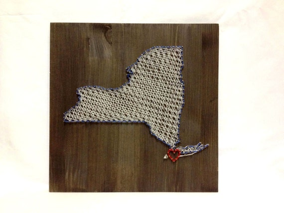 Home Decor New York Of New York State String Art New York Wall Art Home Decor By