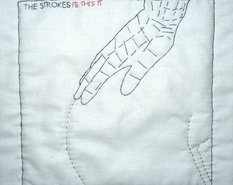 "Embroidered plate Cover The Strokes-""is this It"""