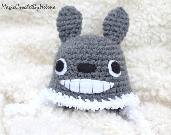 Crochet Pattern Totoro Hat : Newborn crochet hat Crochet hat Totoro Animal crochet hat