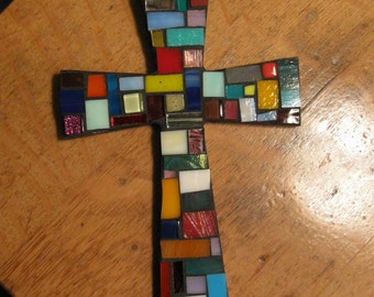 Mosaic Kaleidoscope Cross