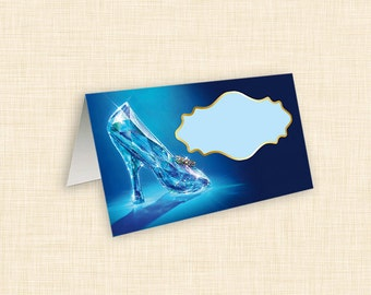 Cinderella Glass Slipper Party Tent Cards  {Printable Digital File • Instant Download}