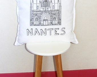 cushion white Nantes