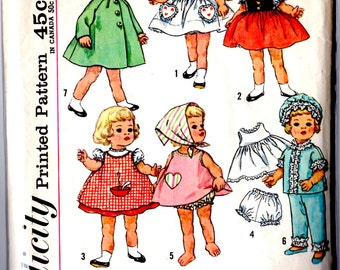 4652 Simplicity Chatty Cathy Doll Clothes Pattern 1960's complete