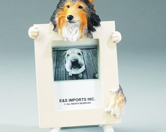 Sheltie Picture Frame makes a Perfect gift for Sheltie Lovers- Hand Painted Holds a 2 1/2 x 3 1/5 Picture