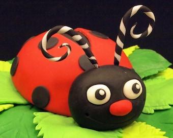 Fondant Ladybug Cake Topper (MADE TO ORDER)