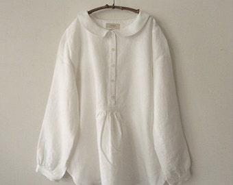 LINNET Pattern / No.64 Flat Collar blouse /Pattern