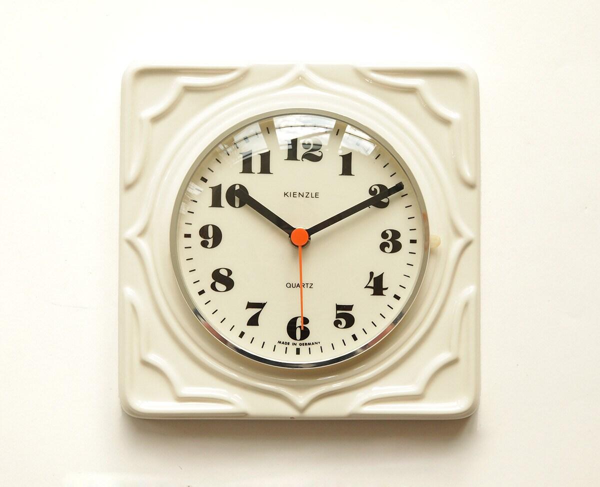 beautiful 70s kienzle germany ceramic wall clock space age
