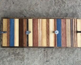 Modern Industrial Reclaimed Wood Key Rack