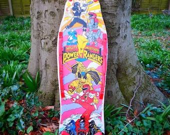 1980's PowerRangers Skateboard deck