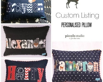 Custom made personalised pillow - made to order