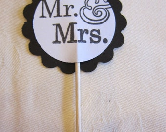 24 Assorted Wedding theme Cupcake Picks