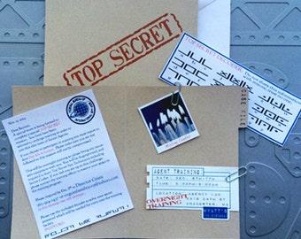 Secret Agent Birthday Invitations