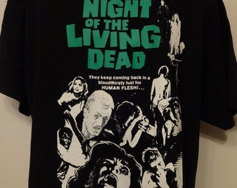 Night Of The Living Dead T-Shirt Unisex Adults Horror Splatter George Romero