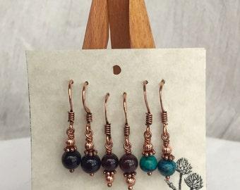 Tiny Drop Earring Set - Copper