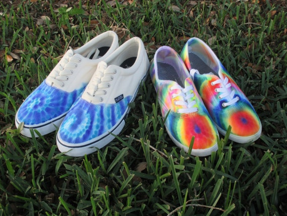 tie dye canvas shoes painted shoes by encantasy on etsy