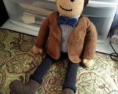 Large Doctor Who 11th Doctor (Matt Smith) Knit Plush Doll Amigurumi