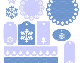 Sale 50% Merry Christmas tag doily border SVG DXF Cutting Digital Die Cut Xmas Noel Cricut Silhouette Cameo cutter Laser EasyCutPrintPD